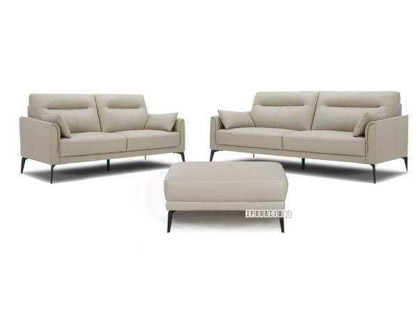 Picture of Freedom 3+2+1+Ottoman Genuine Leather Sofa Range * Beige
