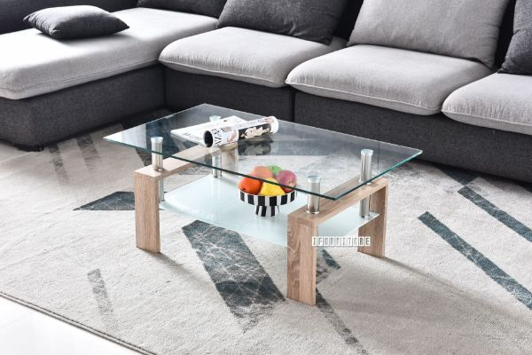 Picture of HORIZON Glass Coffee Table *Oak COLOR