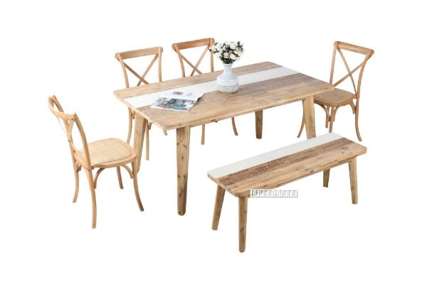 Picture of LEAMAN 6Pc Acacia Dining Set