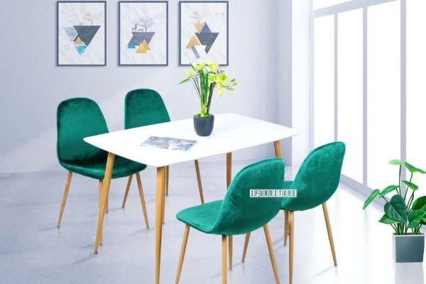 Picture of OSLO 5Pc Dining Set *Green Velvet