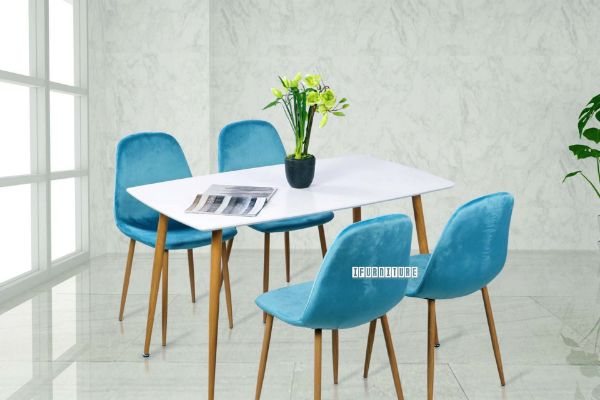 Picture of OSLO 5Pc Dining Set *Blue Velvet