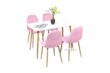 Picture of OSLO 5Pc Dining Set *Pink Velvet