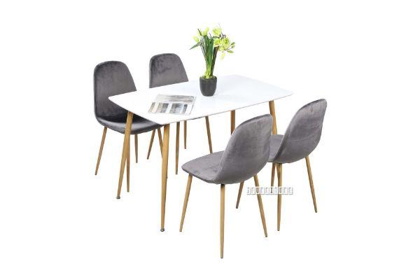 Picture of OSLO 5Pc Dining Set *Grey Velvet