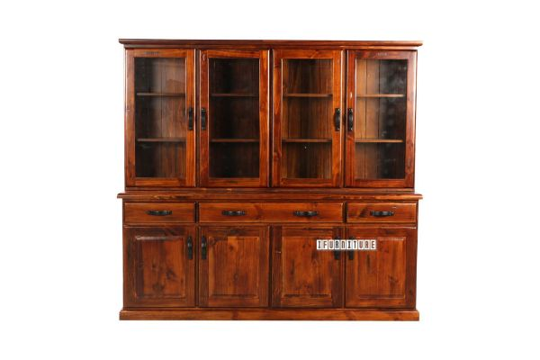 Picture of DROVER Blackwood 4 Door Buffet and 4 Door Hutch *Solid Pine