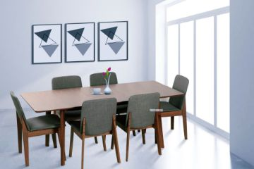 Picture of Eden 150-194 Extension 7Pc Dining Set *Charcoal