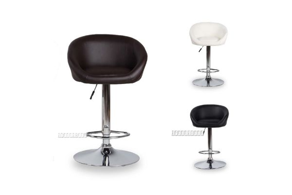 Picture of MONA Bar Chair *Black Brown White Red