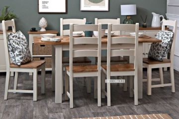 Picture of COCAMO RA 1.2-1.6 / 1.6-2.0 Oak Top Extending Dining Table *Grey