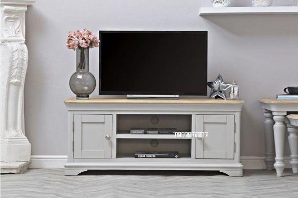Picture of COCAMO 120 Oak Top Large TV Unit *Grey