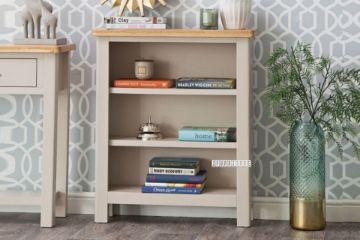 Picture of COCAMO Oak Top Small Wide Bookshelf *Grey