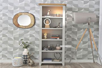 Picture of COCAMO Oak Top Large Bookshelf *Grey