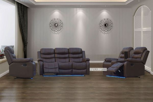 Picture of TANIA Reclining Sofa Range With LED Light *Cup Holder And Storage