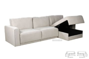 Picture of NIXON L Shape Sofa With 3 Storage Seat *Beige