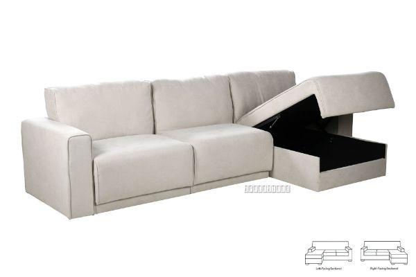 Picture of NIXON L Shape Sofa With 3 Storage Seat *Beige