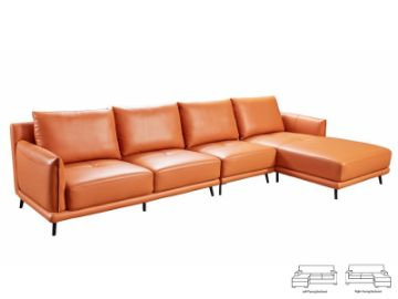 Picture of CATANIA  Corner Sofa with chaise *Genuine Leather