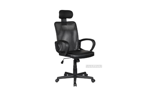 Picture of CRIO Mesh Back PU Seat Office Chair *Black