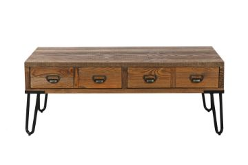 Picture of LIBRARY 4 DRW Rectangle Wood Coffee Table *Light Rustic