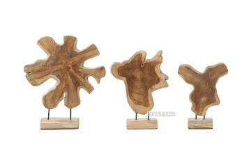 Picture of BARON Solid Teakwood Display Abstract 30 / 40 / 50
