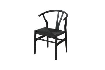 Picture of WISHBONE Solid Beech Y CHAIR REPLICA *Black Color