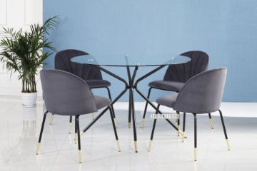 Picture of KORA 110 5PC Glass Top Dining Set