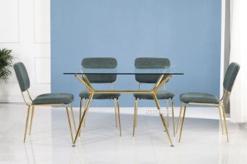 Picture of LASKY 140 Glass Top 5PC Dining Set