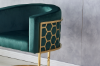 Picture of PARMA Stainless Steel Frame LOUNGE CHAIR *Green VELVET