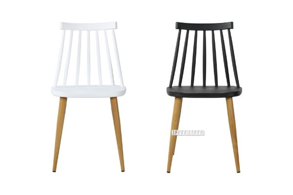 Picture of SKODA Wood Dining Chair *Black / White