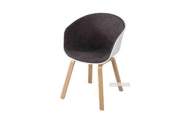Picture of OSAKA  Wood Legs Dining Chair with Inner Upholstery  *Brown / Grey