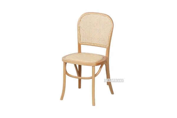 Picture of SYDNEE Solid Beech Rattan Back and Seat Dining Chair *Natural