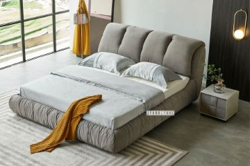 Picture of IBIZA PLATFORM BED FRAME IN QUEEN/SUPER KING SIZE *LIGHT GREY