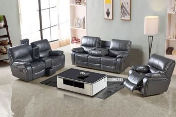 Picture of PASADENA RECLINING SOFA RANGE IN AIR LEATHER *GREY