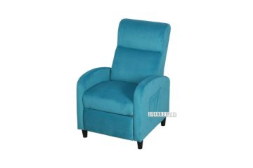 Picture of AMINAH Push Back Reclining Velvet Chair *Blue
