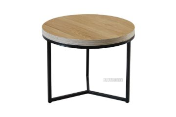 Picture of HENMAN 50 Round Side Table *Oak and Black