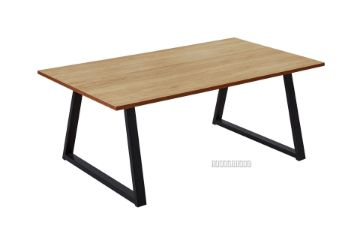 Picture of HENMAN 110 Rectangle Top and Straight Leg Coffee Table *Oak and Black