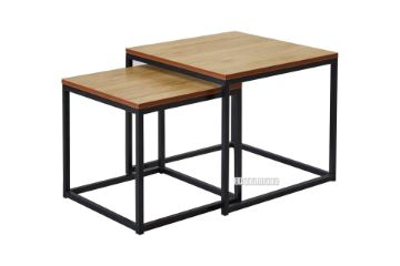 Picture of HENMAN Square Nesting Table *Oak and Black
