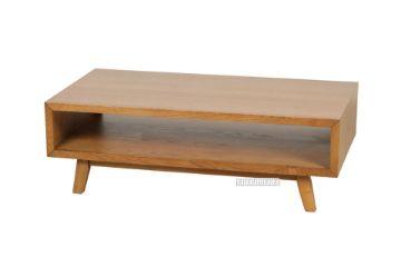 Picture of RETRO Oak Coffee Table With Open Shelf *Maple