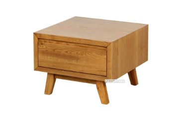 Picture of RETRO 1 Drawer Oak Lamp Table *Maple