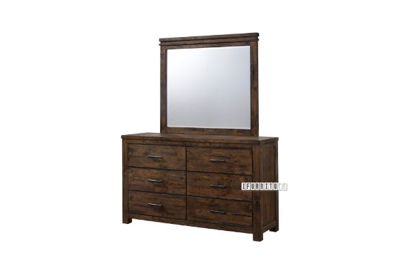 Picture of VENTURA 6 Drawers Oak Dressing Table and Mirror