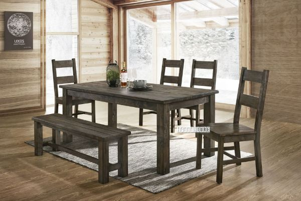 Picture of HEMSWORTH 180 6PCS Solid Timber & Veneer Dining Set