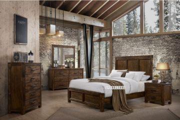 Picture of VENTURA 4PC/5PC/6PC Oak Bedroom Combo in Queen Size