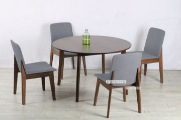 Picture of Eden 120 Round 5Pc Dining Set *Light Grey