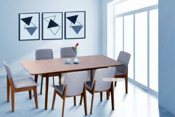 Picture of Eden 150-194 Extension 7Pc Dining Set *Light Grey