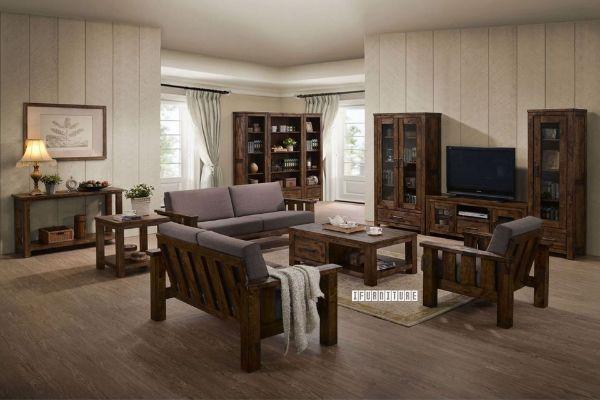 Picture of VENTURA 3+2+1 Oak Sofa Range *Light Brown