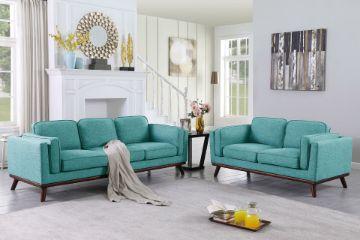 Picture of VIKING 3+2 Fabric Sofa Range *Lake Blue