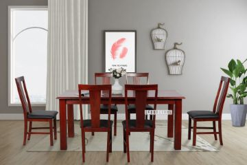 Picture of COTTAGE HILL 150/180/200 7PC Solid Pine Dining Set