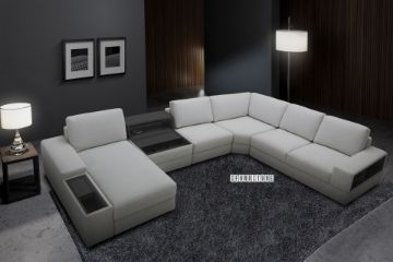 Picture of SILVERMOON Power Modular Sofa With Storage and USB Charging Port *DUST ,WATER & OIL RESISTANT