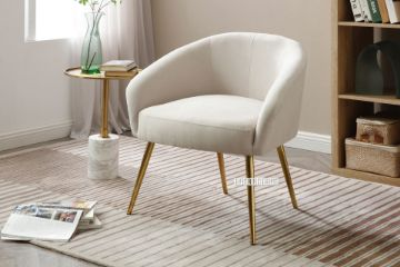 Picture of GADDY Velvet Accent Chair *Beige