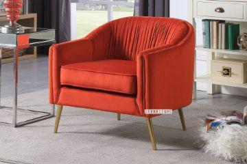 Picture of HANNER Velvet Lounge Chair *Orange