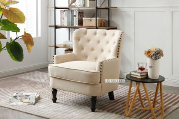 Picture of AMERIA Fabric Lounge Chair *Beige
