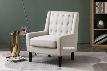 Picture of JUSSI Fabric Lounge Chair *Beige