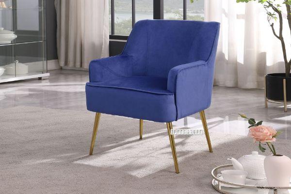 Picture of MILLER Velvet Lounge Chair *Navy Blue
